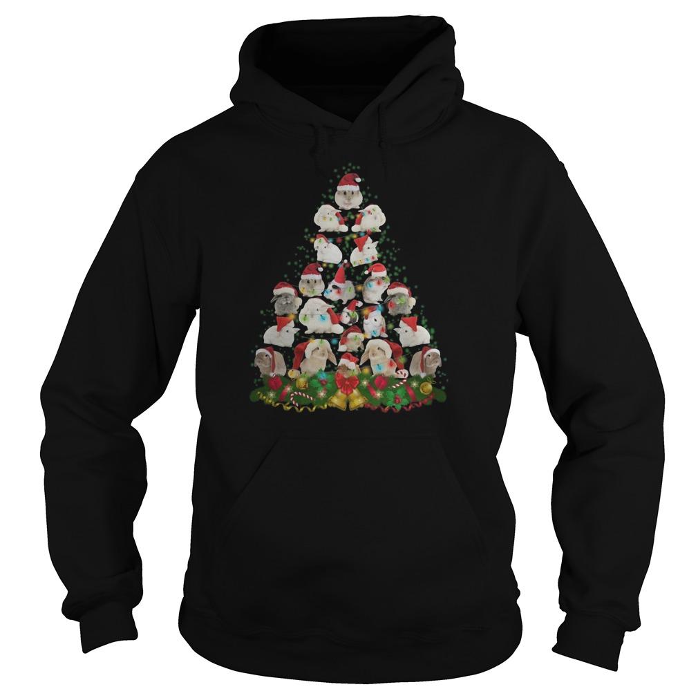Bunny Christmas tree Hoodie