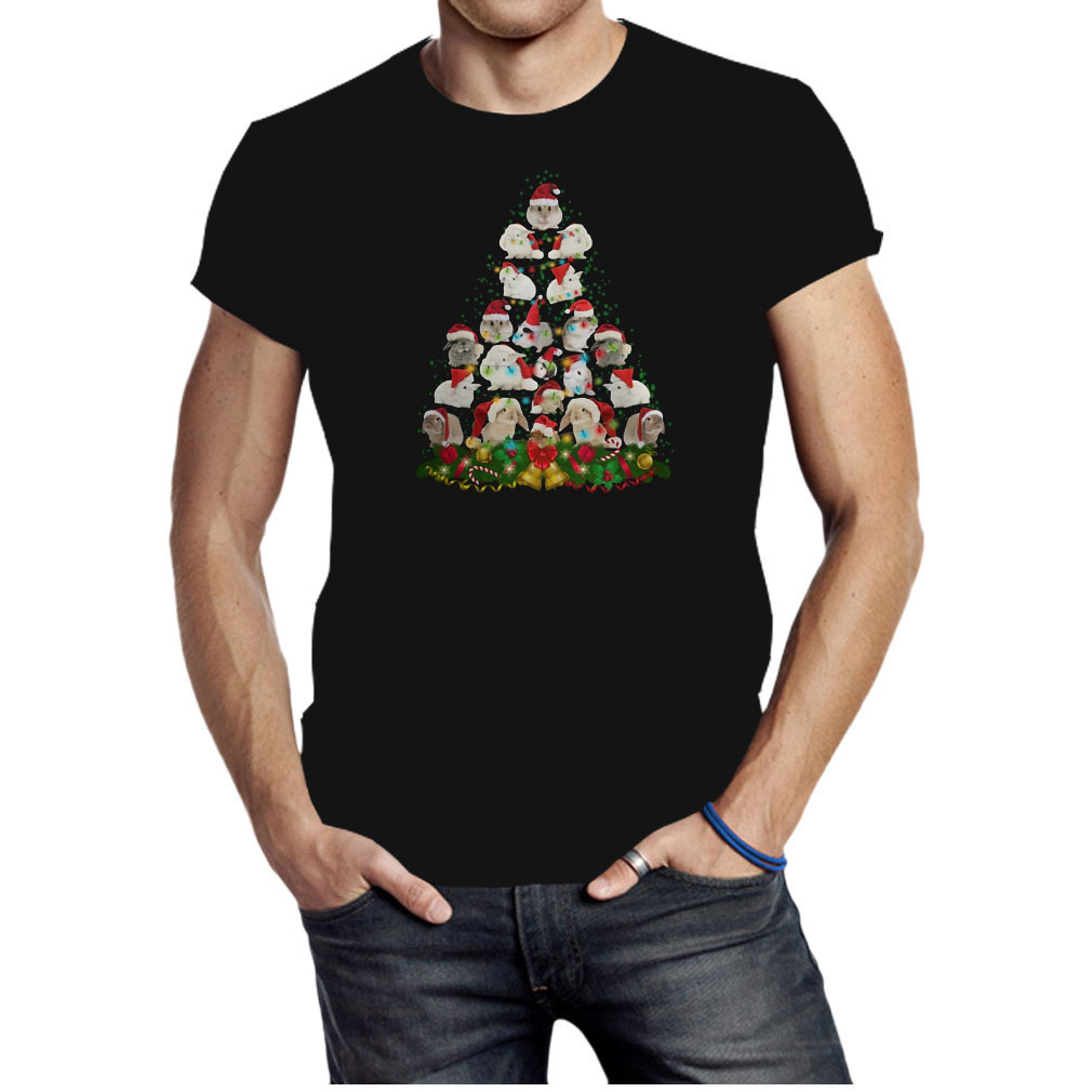 Bunny Christmas tree shirt