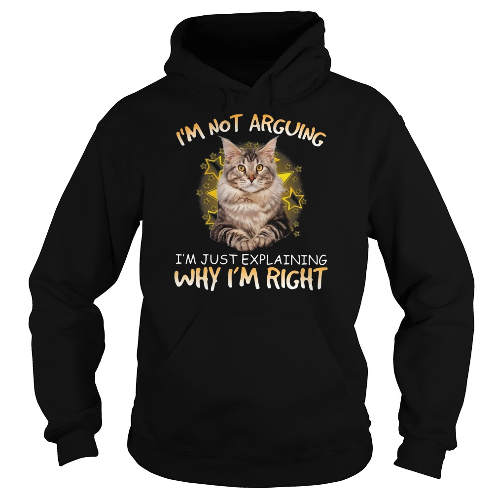 Cat I'm not arguing Im just explaining why I'm right Hoodie