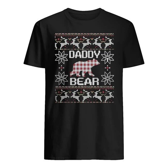 Daddy bear matching family season Ugly Christmas Guys t-shirt