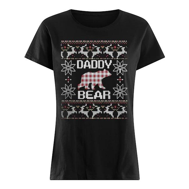 Daddy bear matching family season Ugly Christmas Ladies t-shirt