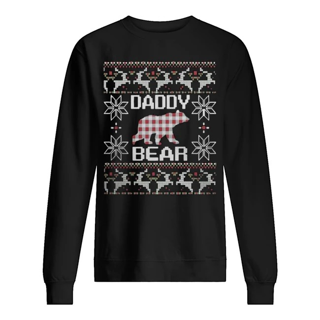 Daddy bear matching family season Ugly Christmas sweater