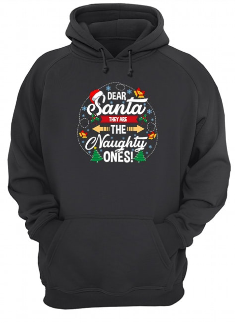 Dear Santa they are the naghty ones Christmas Hoodie