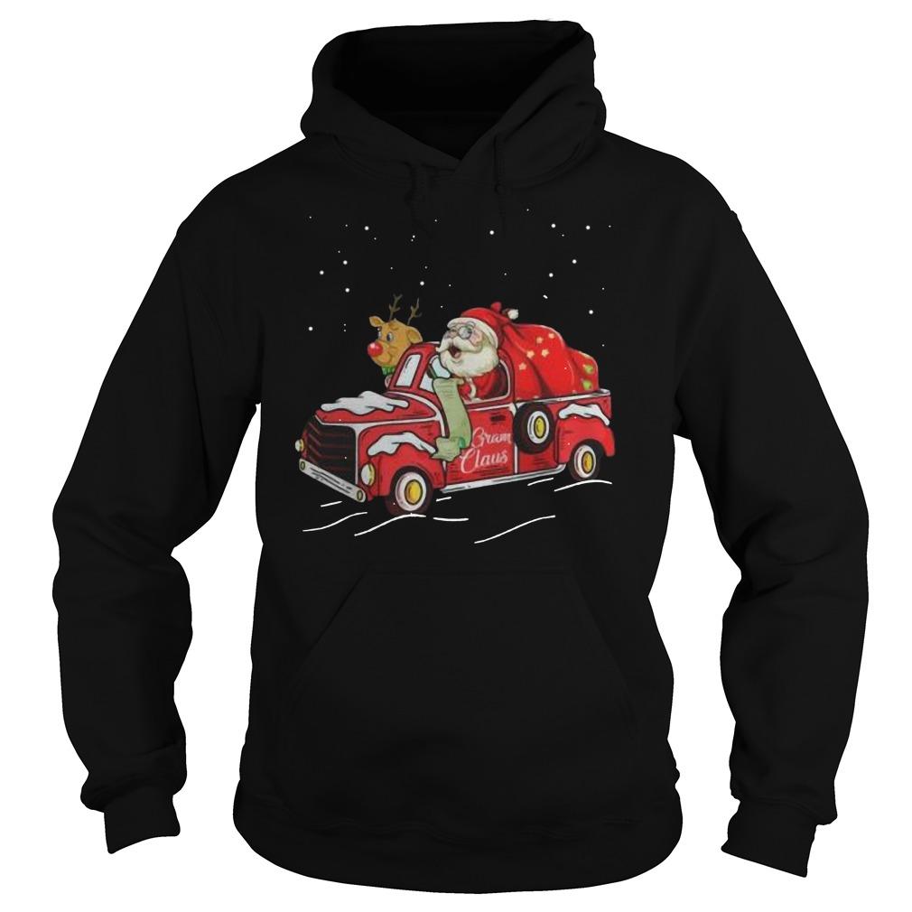 Gram claus truck grandma Christmas Hoodie