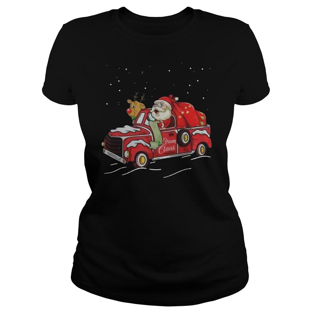 Gram claus truck grandma Christmas Ladies t-shirt