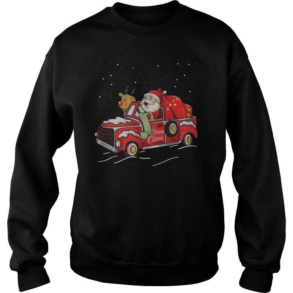 Gram claus truck grandma Christmas Sweater