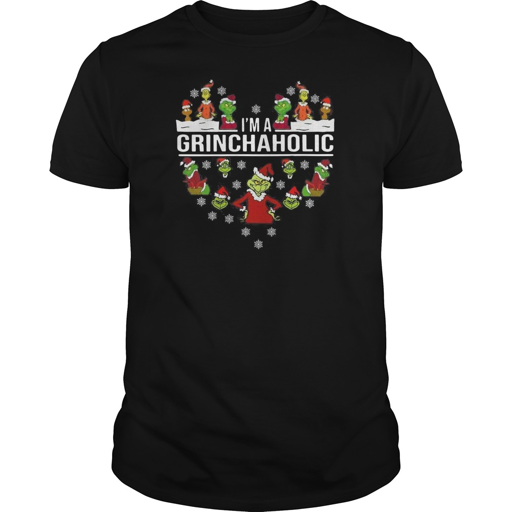 I'm a Grinch aholic Christmas Guys t-shirt