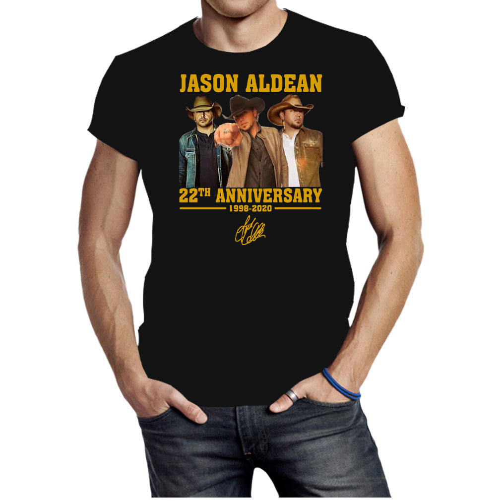 Jason Aldean 22th anniversary 1998-2020 shirt