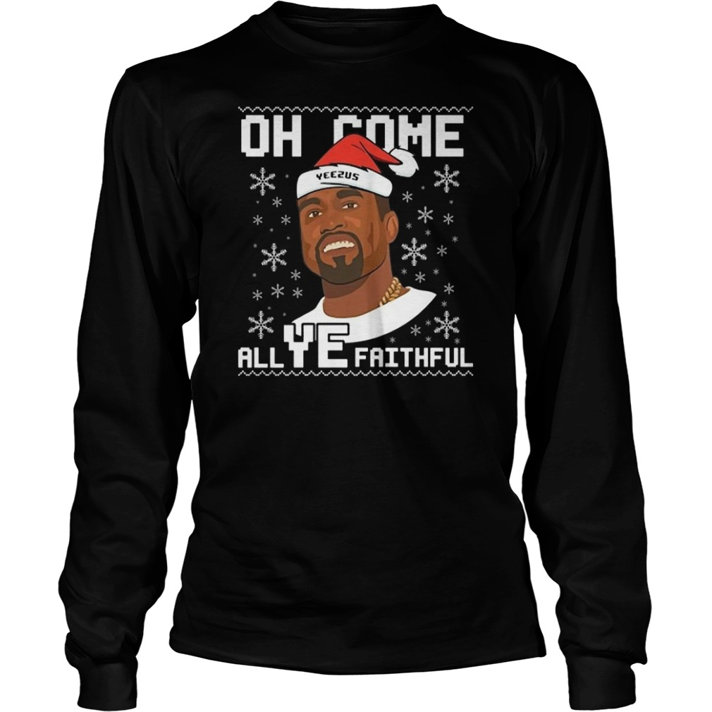 Kanye West oh come all Ye faithful Christmas sweater