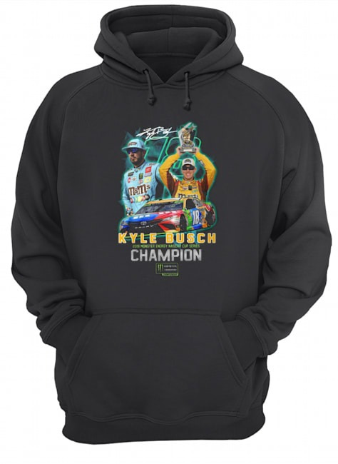 Kyle busch 2019 monster energy nascar cup series Champion Hoodie