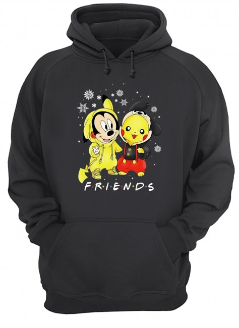 Mickey and Pikachu Friends Christmas Hoodie