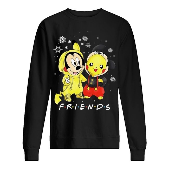 Mickey and Pikachu Friends Christmas Sweater
