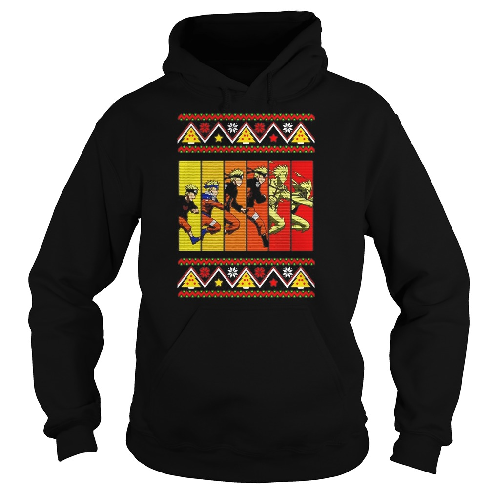 Naruto ninja evolution Ugly Christmas Hoodie
