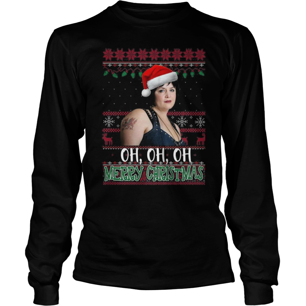 Nessa Jenkins oh oh oh Merry Christmas Ugly Christmas Long sleeve