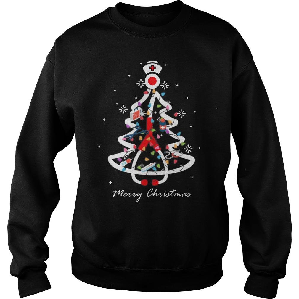 Nurse Christmas tree Merry Christmas Sweater