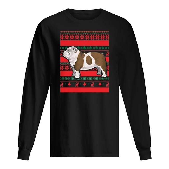 Official Bulldog Ugly Christmas Long sleeve