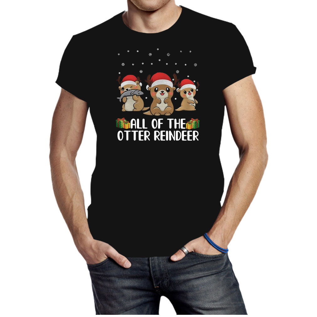All of the otter reindeer Christmas shirtAll of the otter reindeer Christmas shirt