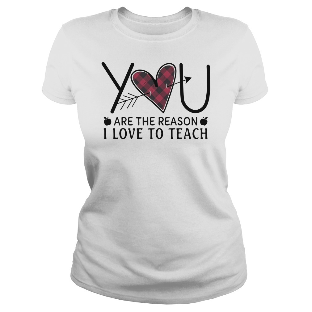 You are the reason I love to teach Ladies t-shirt
