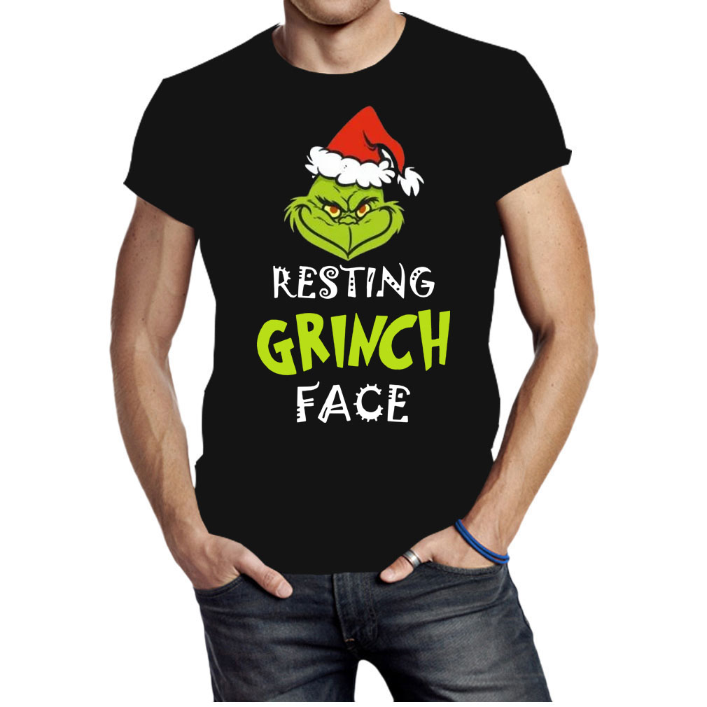 Resting Grinch face Christmas shirt