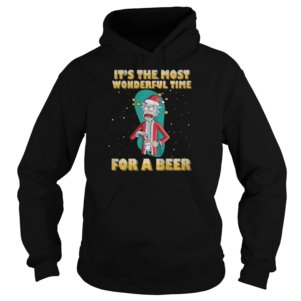 Rick Sanchez It's the most wonderful time for a beer Christmas Hoodie