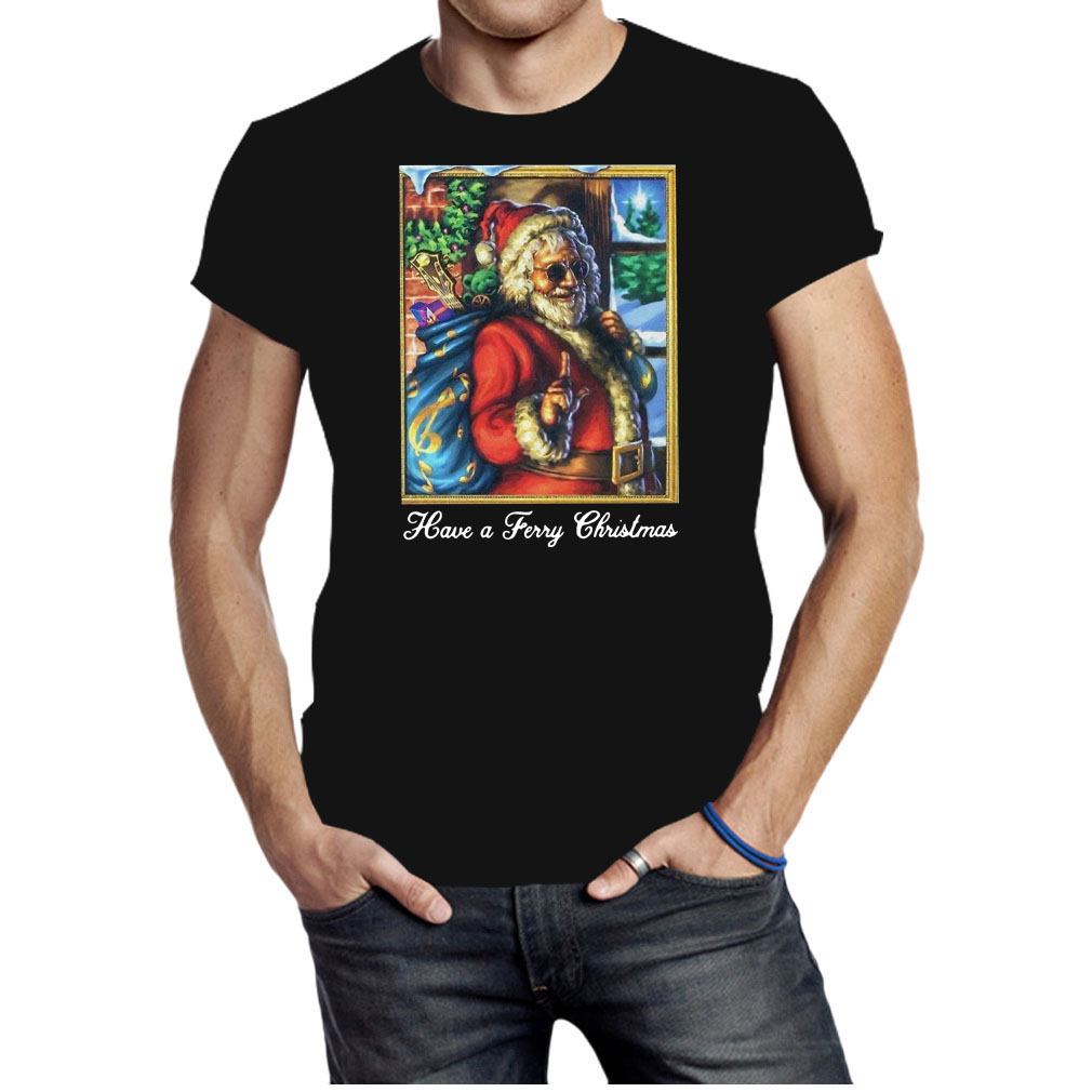 Santa Claus have a ferry Christmas shirt