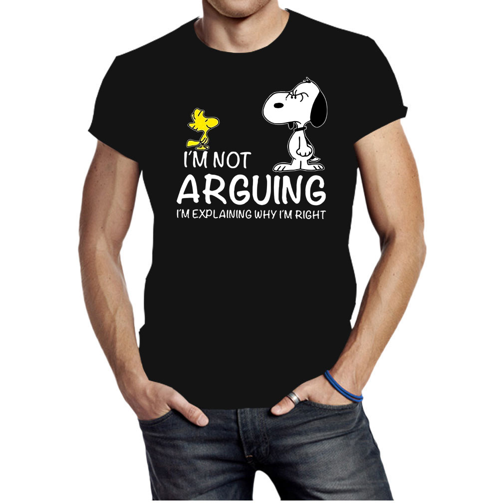 Snoopy and Woodstock I'm not Arguing Im explaining why I'm right shirt