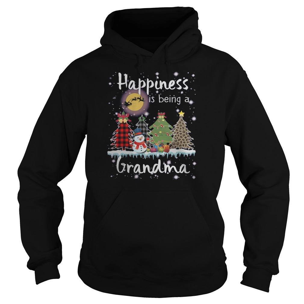 Snowman Happiness is being a grandma Christmas Hoodie