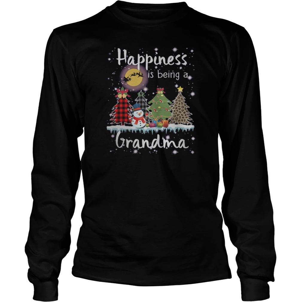 Snowman Happiness is being a grandma Christmas shirt