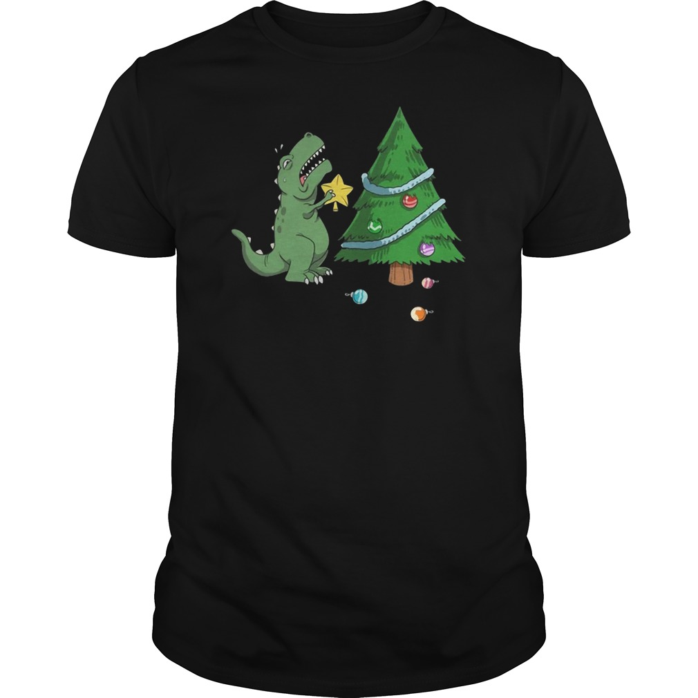 Struggle Is Real Dinosaur Christmas Tree Guys t-shirt