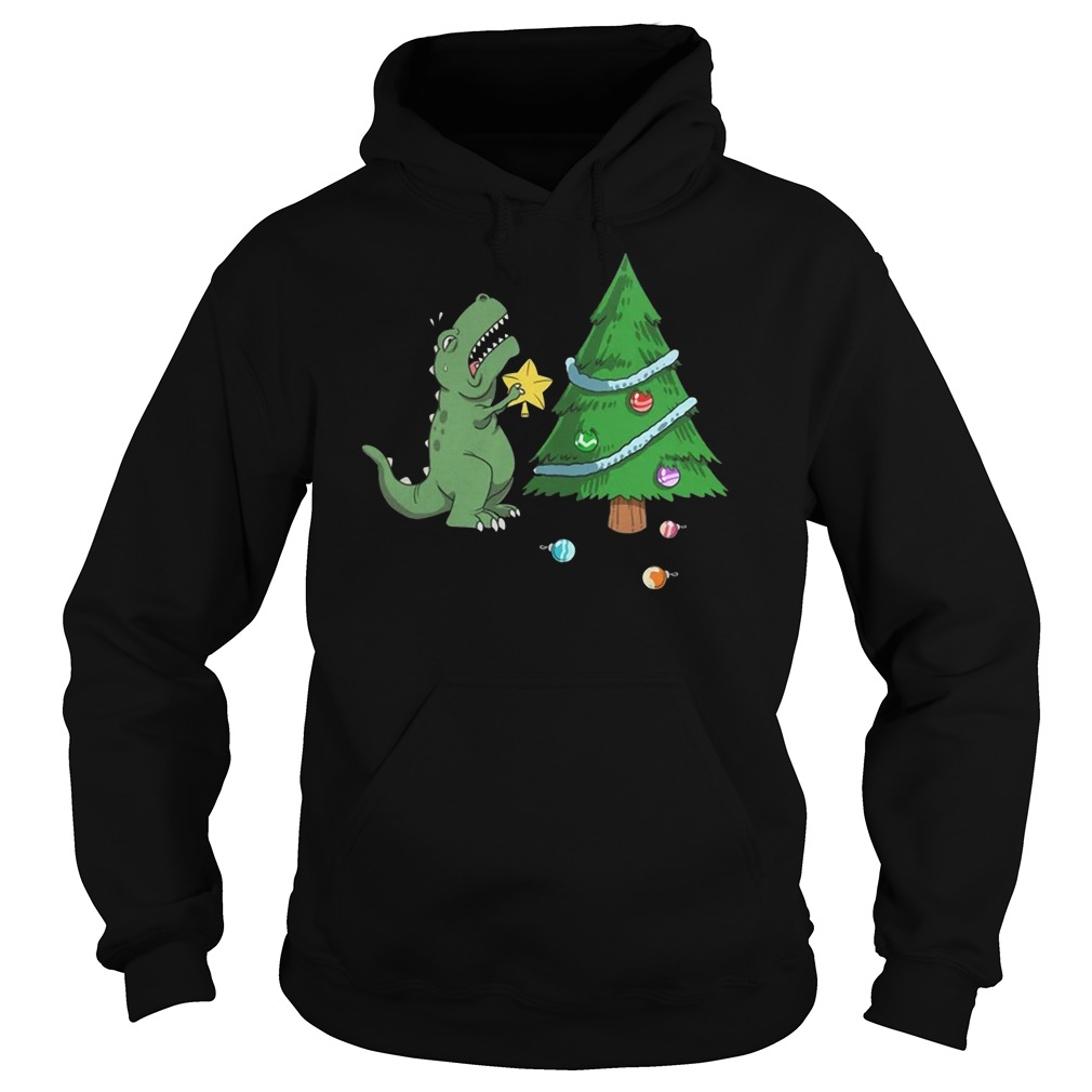 Struggle Is Real Dinosaur Christmas Tree Hoodie
