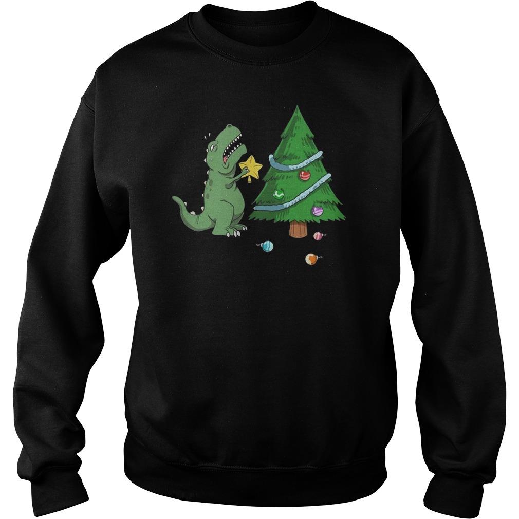 Struggle Is Real Dinosaur Christmas Tree Sweater