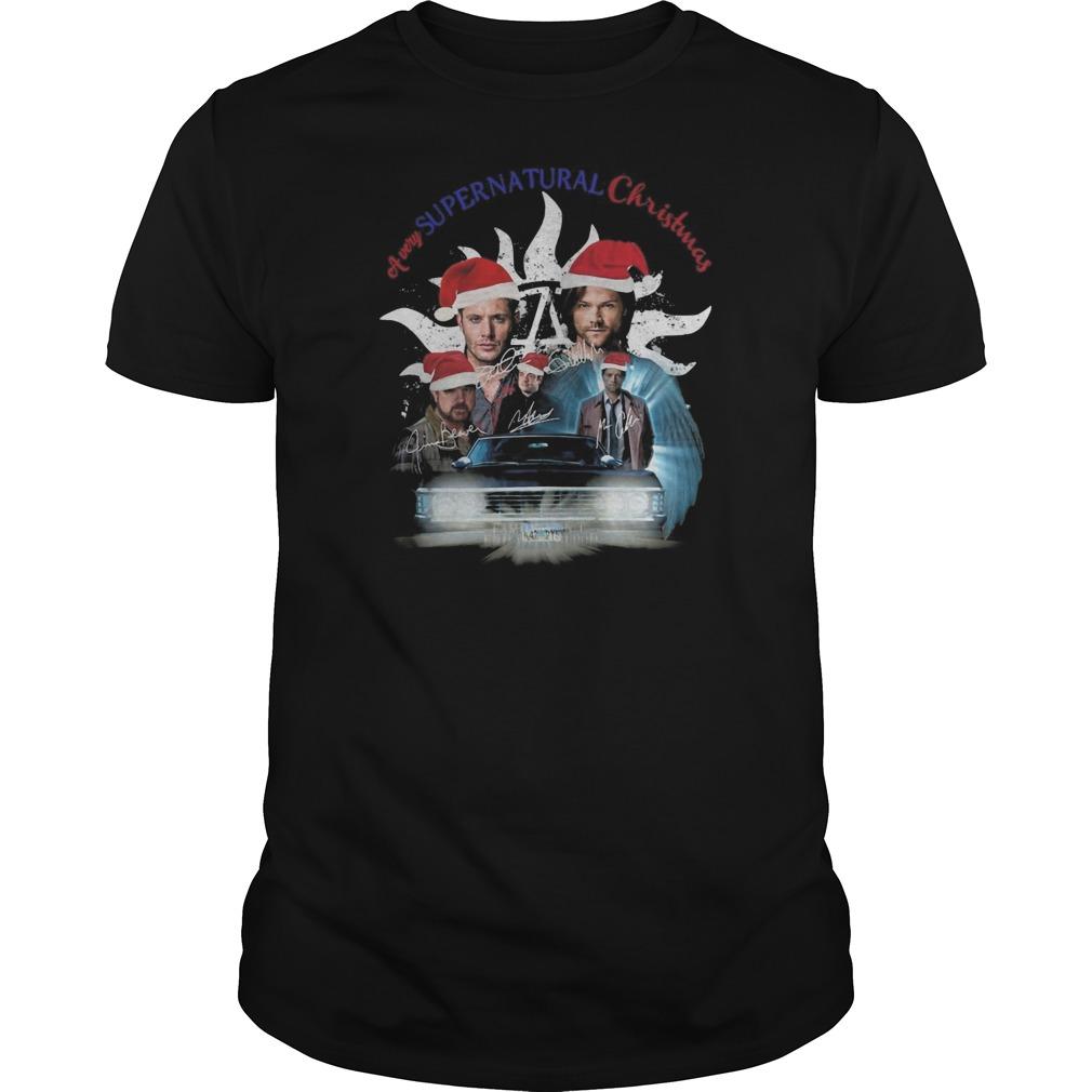 A very Supernatural Christmas Guys t-shirt