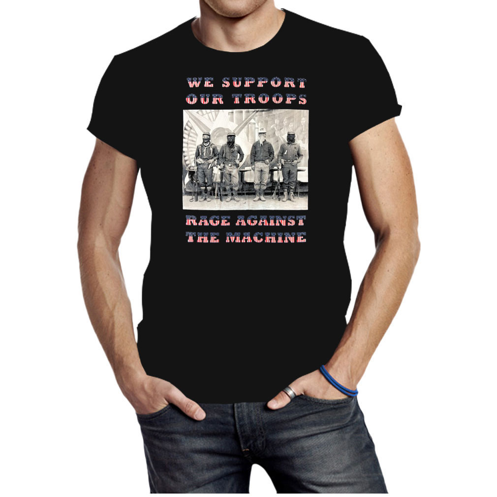 We support our troops rage against the machine shirt