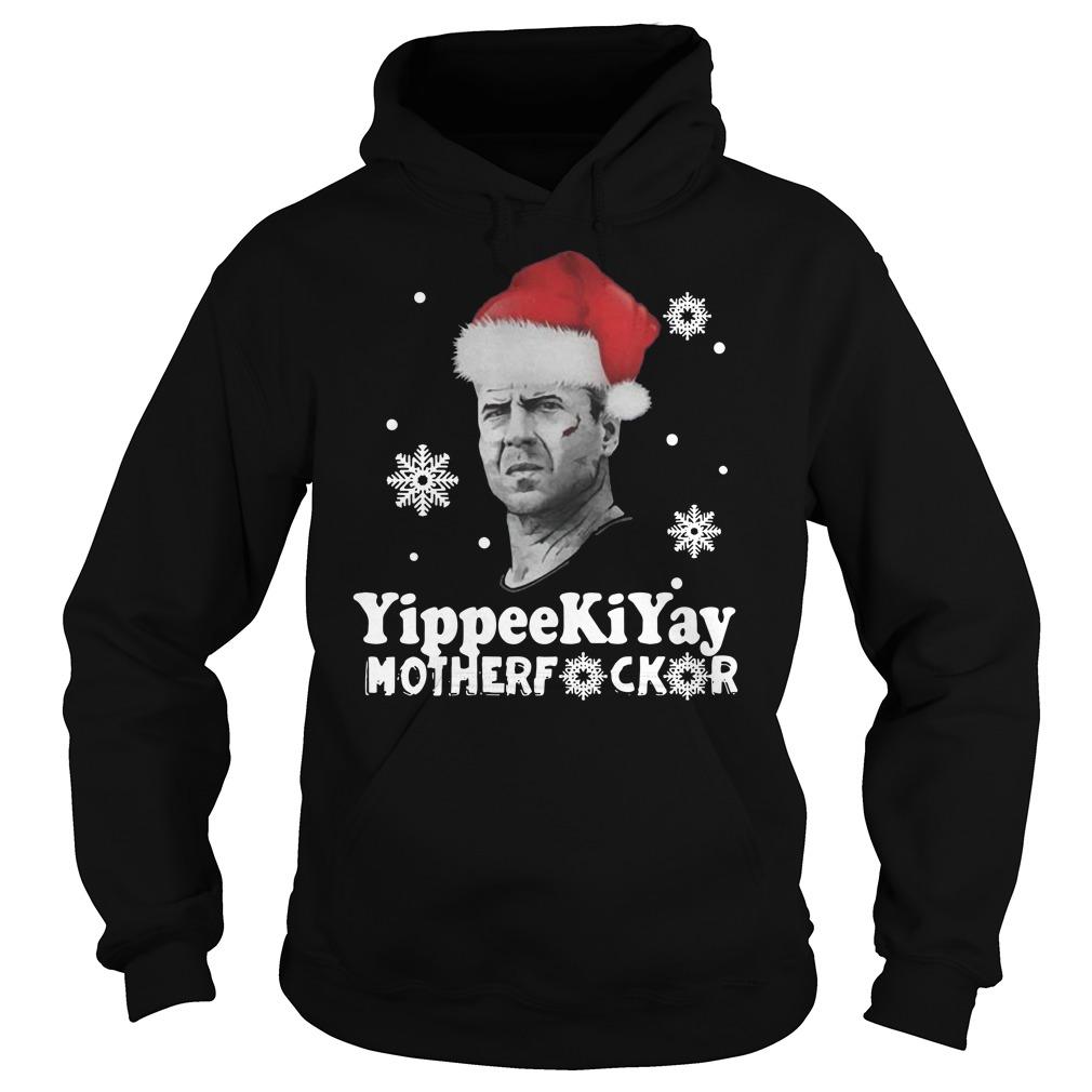 Yippee Ki Yay mother fucker Christmas Hoodie