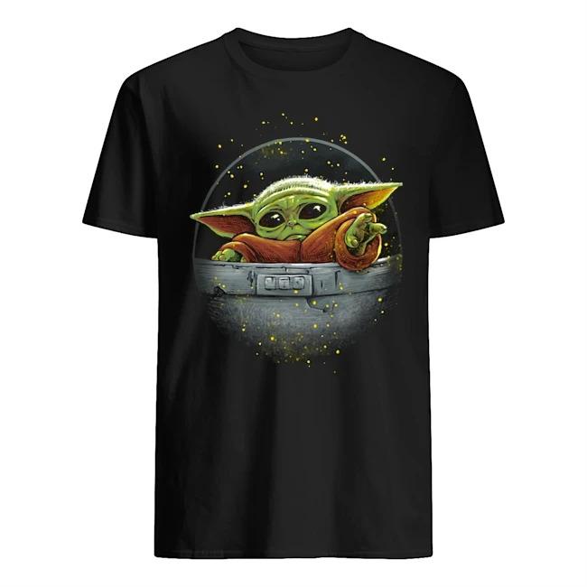 Baby Yoda cute force Mandalorian Guys t-shirt