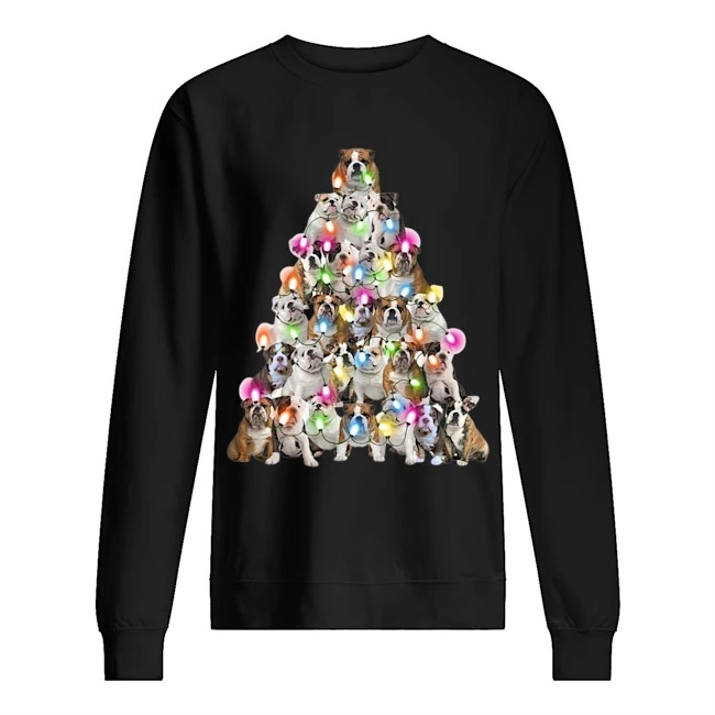 Bulldog Light Christas Tree Sweater