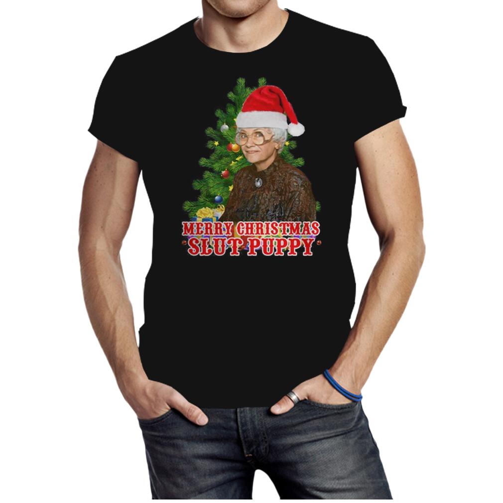 Golden girls Merry Christmas slut puppy Christmas shirt