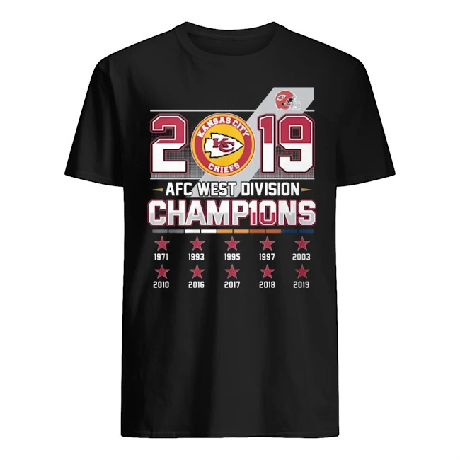 Kansas city Chiefs 2019 AFC west division Champions Guys t-shirt