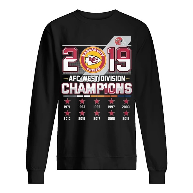 Kansas city Chiefs 2019 AFC west division Champions Sweater