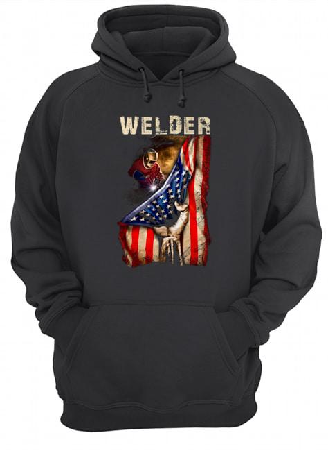 Proud Welder America flag Hoodie
