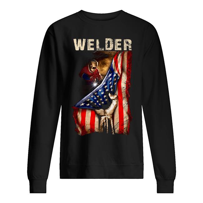 Proud Welder America flag Sweater