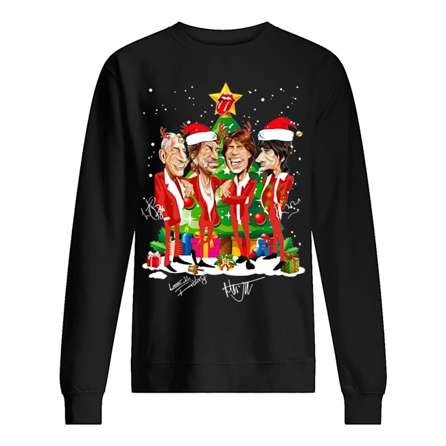 Rolling Stone Santa Christmas Tree Signature Sweater