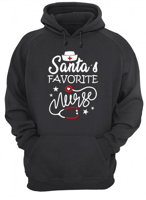 Santa's favorite nurse Christmas Hoodie