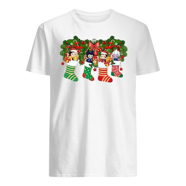 Villains In socks Christmas Guys t-shirt